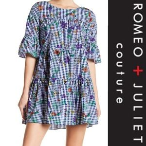 NWT Romeo and Juliet Couture Gingham Floral Dress